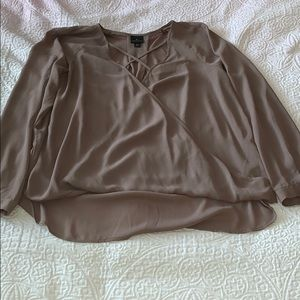 Brown Criss-Cross Worthington Top
